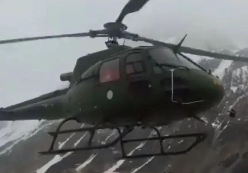 Evacuation hélicoptère Pakistan