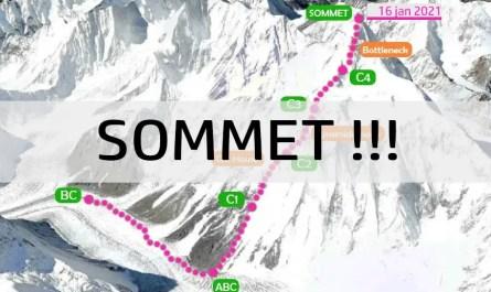 Sommet du K2 en hiver