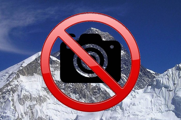 Ce printemps, interdiction de prendre des photos sur l'Everest !