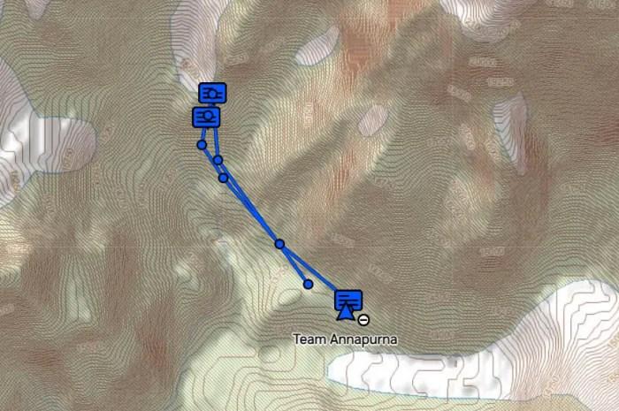 A l'Annapurna, le camp de base est installé, les trackers GPS aussi !