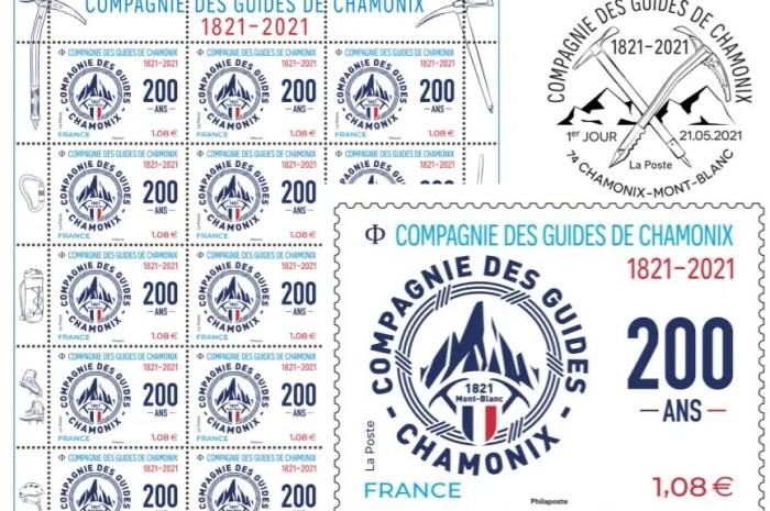Un timbre pour fêter le bicentenaire de la Compagnie des Guides de Chamonix