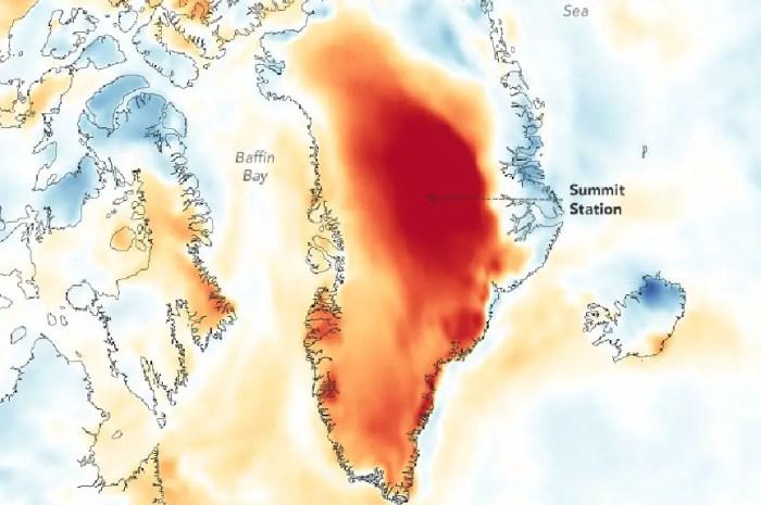 Pluie à 3.200 mètres d'altitude sur les glaciers du Groenland !