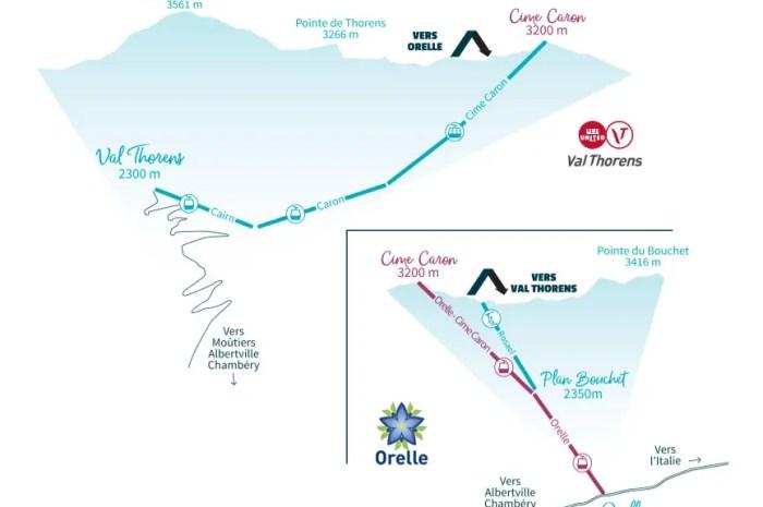 Télécabine Orelle-Caron : du nouveau entre Orelle et Val Thorens cet hiver !