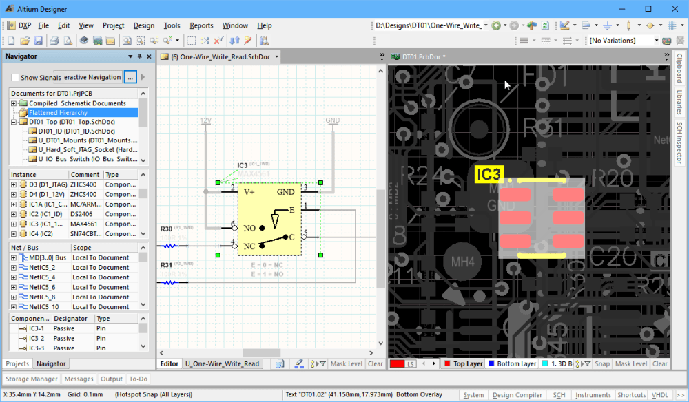 medium resolution of  of altium designer is how easily you can move between the various elements of your design for example a click in the projects panel opens a schematic