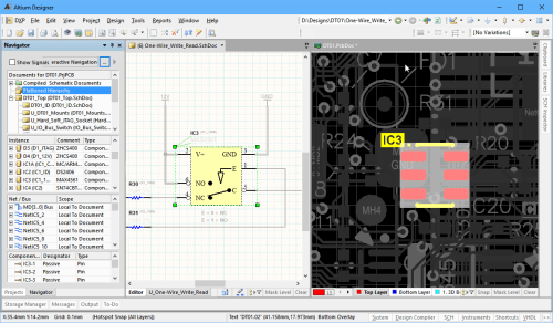 small resolution of  of altium designer is how easily you can move between the various elements of your design for example a click in the projects panel opens a schematic