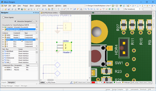 small resolution of navigate to a component on the schematic and the pcb at the same time