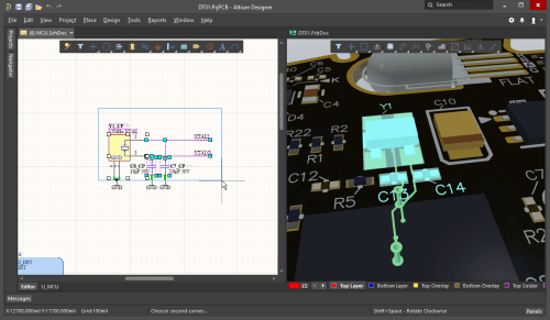 small resolution of selecting components and nets on the schematic those objects are also selected on the pcb cross selection also works from the pcb to the schematic