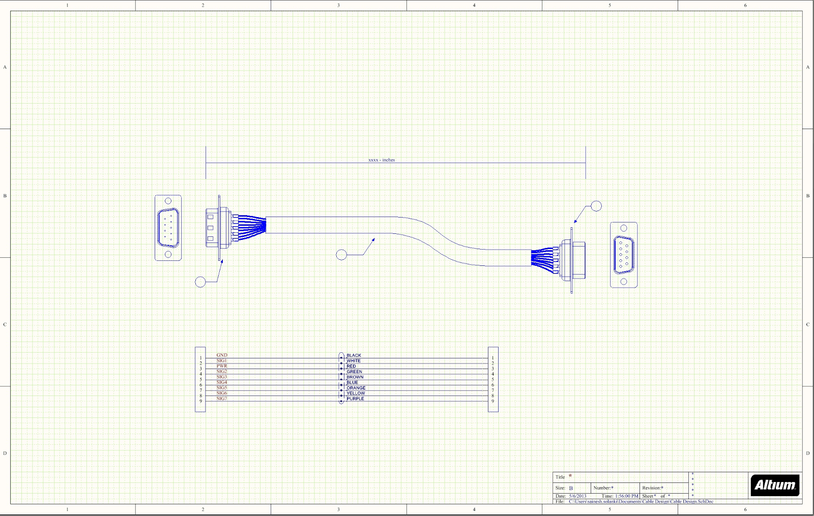 wire harness assembly drawing