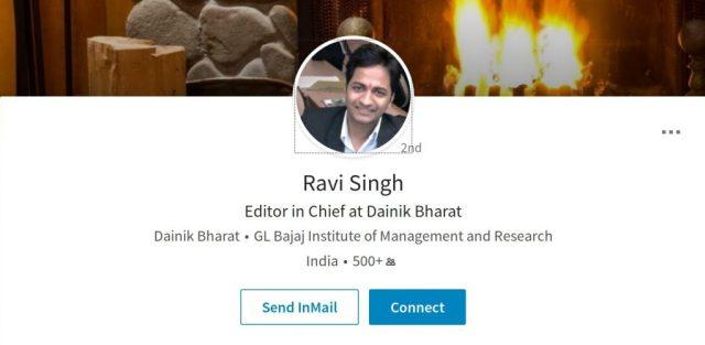 Ravi Singh Dainik Bharat Linkedin Profile