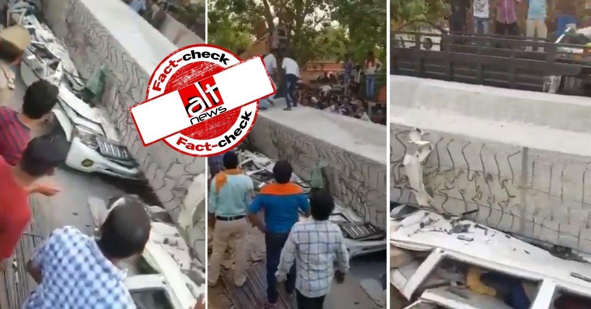 वाराणसी में फ़्लाईओवर गिरने का 2018 का वीडियो हैदराबाद और ठाणे का बताकर शेयर