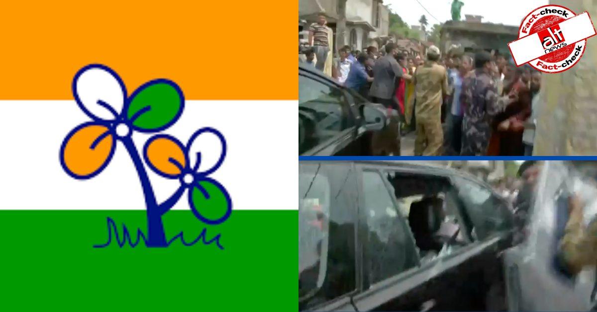 BJP MP लॉकेट चटर्जी की कार का शीशा अंदर से नहीं टूटा था, पत्थर मारा गया था
