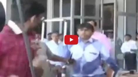 Shoes hurled at Gujarat Home Minister Pradeep Sinh Jadega
