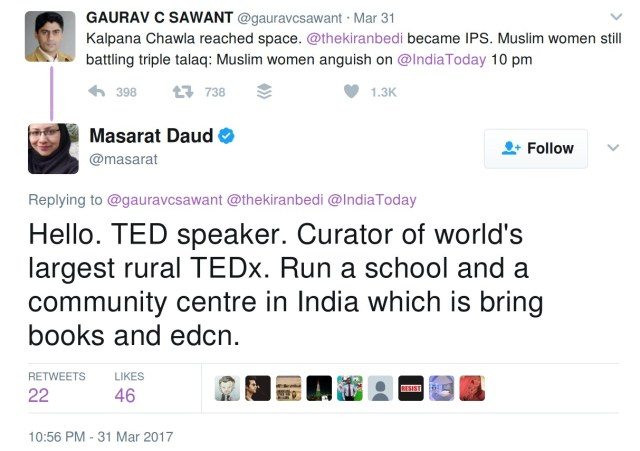 Hello. TED speaker. Curator of world's largest rural TEDx. Run a school and a community centre in India which is bring books and edcn.