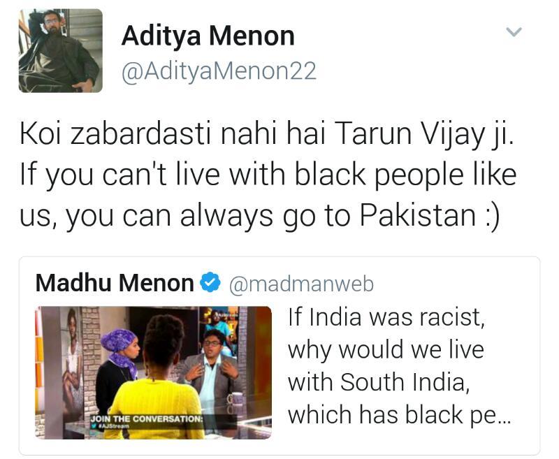 tarun-vijay-response-aditya-menon