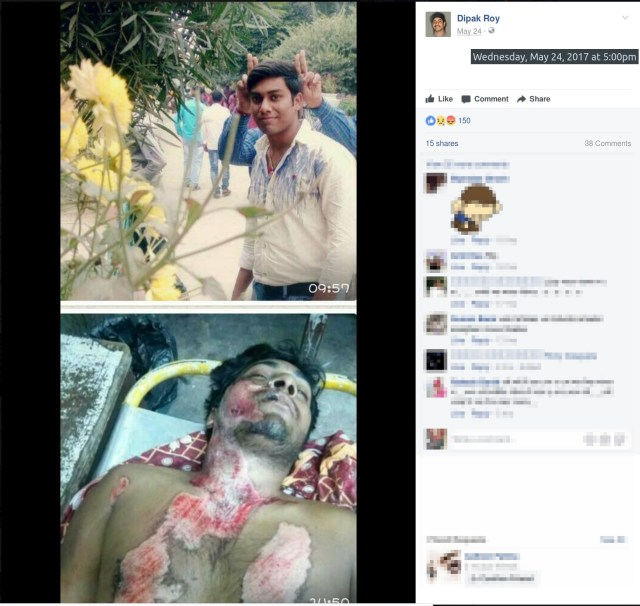 Accident Victim's picture posted by Dipak Roy