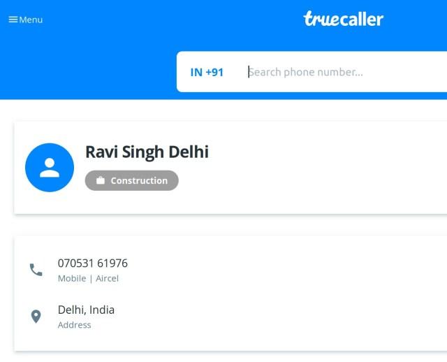 Ravi Singh Truecaller 7053161976