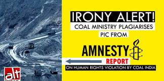 coal ministry plagiarises pic from amnest report