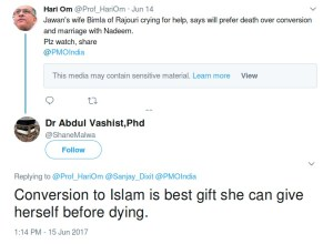 abdul vashist shanemalwa Conversion to Islam is best gift she can give herself before dying