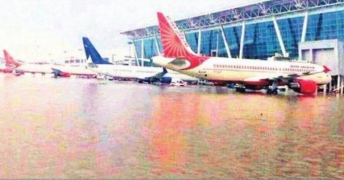 PTI image of flooded Gujarat airport joins the long list of fake images in recent times