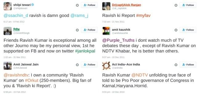 bjp supporters praising ravish