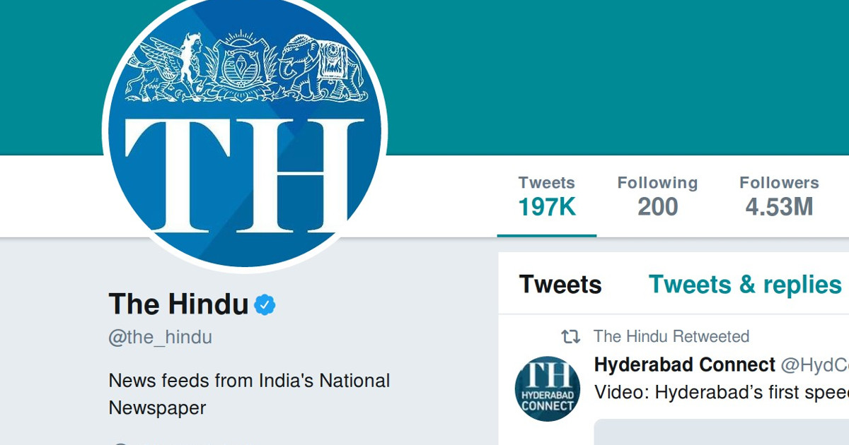 The Hindu 'unfiltered' by Twitter after Alt News raises the issue