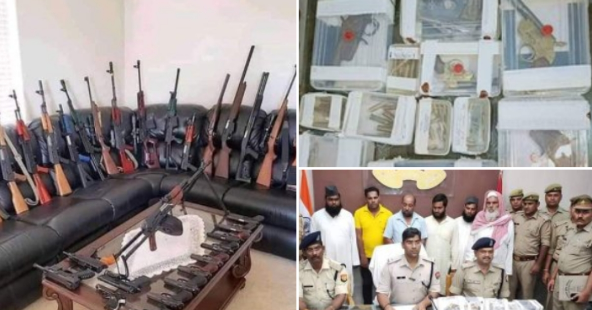 True incident, unrelated image: UP police recover illegal arms from Madrasa in Sherkot - Alt News
