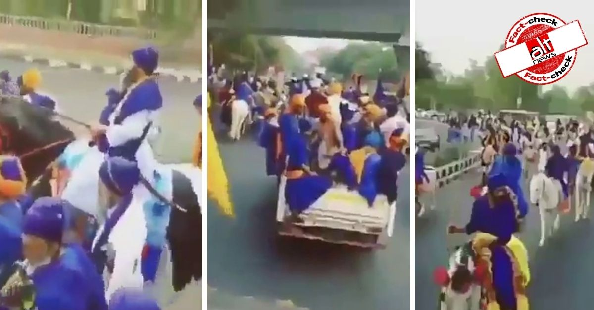 Farmers' protest: Old video viral as thousands of Nihang Sikhs march for Delhi from Punjab