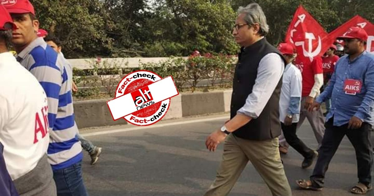 Ravish Kumar's photo covering 2018 farmers' protest shared as him joining recent movement