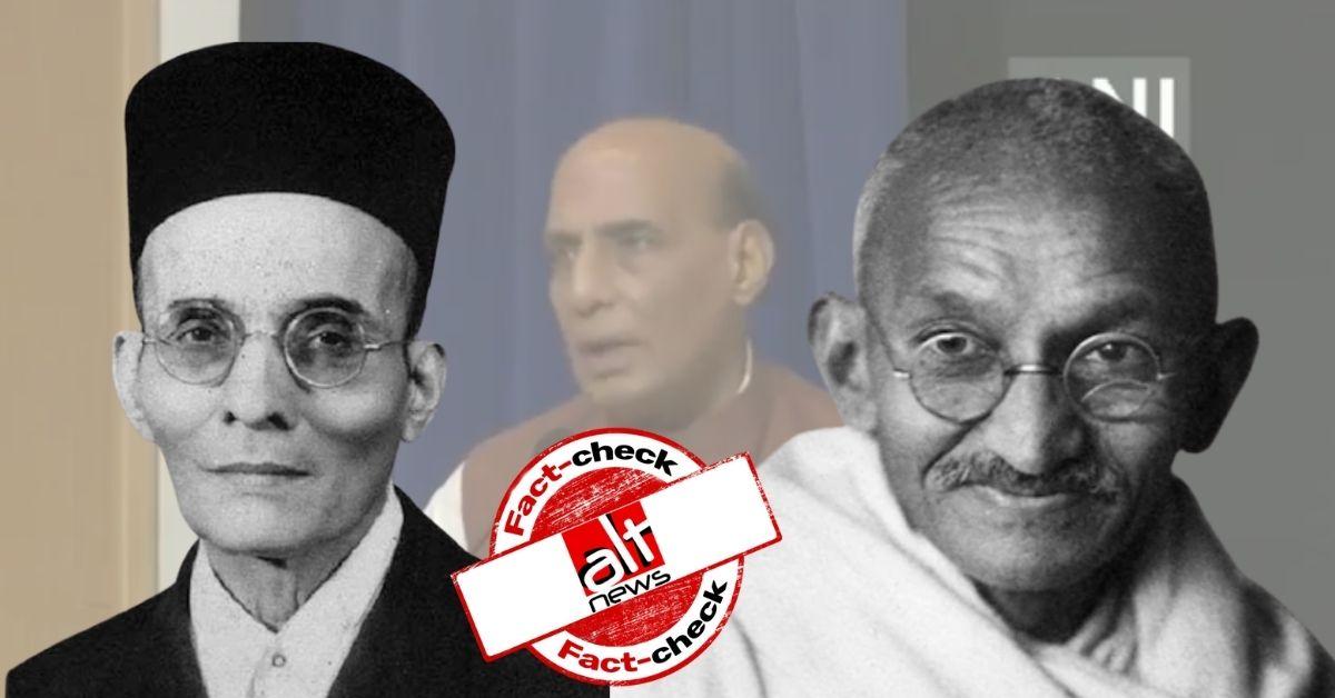 Did Savarkar write mercy petitions on Gandhi's advice as claimed by Rajnath Singh?