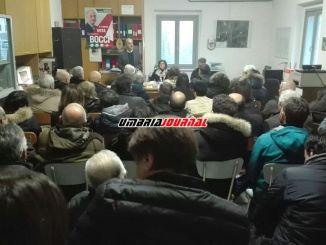Gianpiero Bocci a Bagnara di Nocera Umbra, noi unici tra la gente