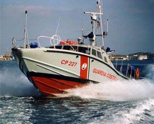 """CP 227 Guardia Costiera disegno """"Sonny Levi"""" Cantieri Canav di Anzio"""