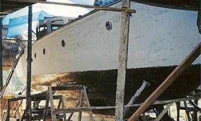 Fase di rivestimento dello scafo