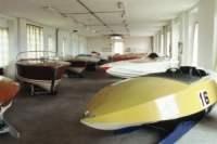 Sala Museo di Lario dei motoscafi da corsa più recenti