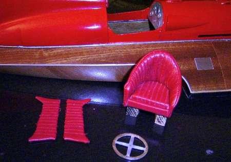 Arno Timossi Ferrari sediolino - pannelli in pelle - volante