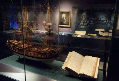 Un bel modello del 1747 della Centurion, la nave a bordo della quale Harrison collaudò l'H1