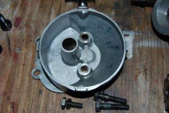 parte inferiore pompa olio
