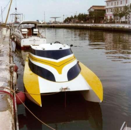 Arcidiavolo II trasformato in barca da diporto