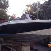 Barca classica Sonny Vega 318: fine restauro