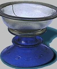 Coppa vetro colorato