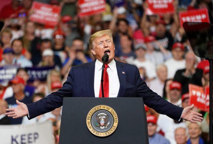 Donald Trump in campaign