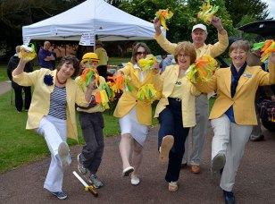 The Hi-De-Hi team at Party in the Park