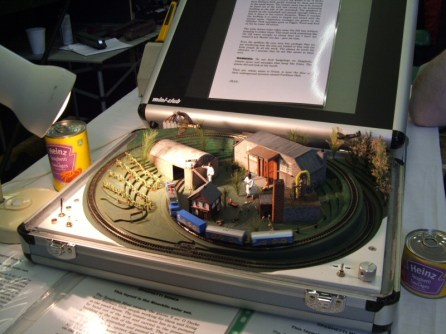 The Z-Gauge layout in a briefcase, Zpaghetti Mines