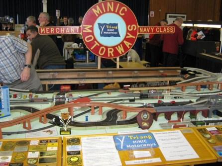 The vintage Minic motorways display