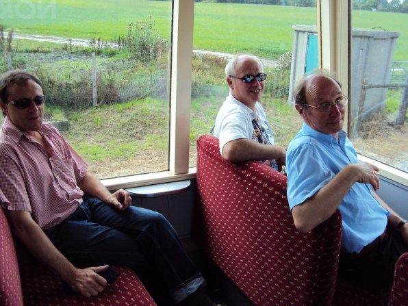 Steve, Graham and John inside the Observation car