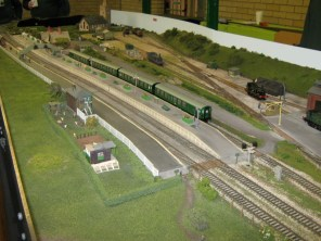 The station on the OO Gauge Soberton