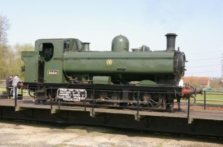 Pannier Tank on the turntable