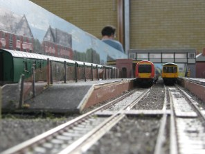A view down the mainline tracks towards Alresford.