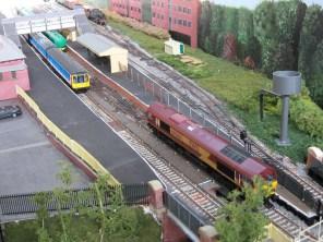 The Oil train prepares to run-around.