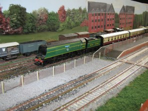 A Steam train arrives at Platform 3.