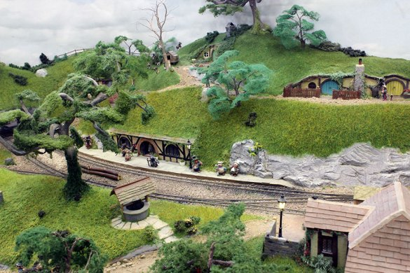The fantasy narrow gauge Hobbiton End